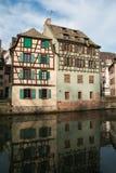 Kanał w Francja Małym terenie, Strasburg Fotografia Royalty Free