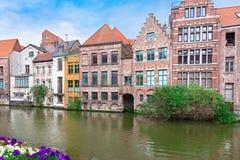 Kanał w Gent fotografia royalty free