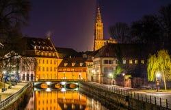 Kanał w Małym Francja terenie - Strasburg Obraz Stock