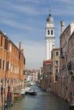 Kanał w Wenecja, Włochy Zdjęcia Stock