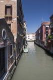 Kanał w Wenecja, Włochy Obrazy Royalty Free