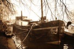 Kanałowa łódź Zdjęcia Royalty Free