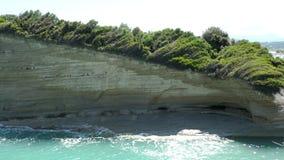 Kanałowego damour rockowa formacja w Sidari, północna strona Corfu wyspa Grecja zbiory
