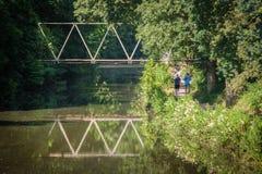 Kanałowi ścieżek joggers Zdjęcie Stock