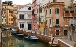 Typowy Wenecja neighbourhood. zdjęcie stock