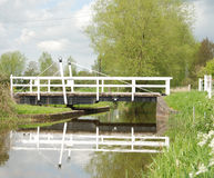 Kanałowy Huśtawkowy most Obraz Royalty Free