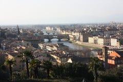 Kanały miasto Florence na Arno zdjęcie royalty free