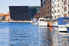 Kanały są w mieście Kopenhaga Fotografia Royalty Free