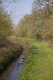 Kanał, droga wodna przez obszaru zalesionego/ Obraz Stock