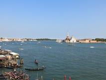 Kanał Grande Giorgio Maggiore i San Fotografia Stock