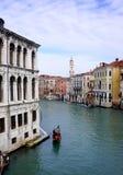 Kanał Grande gondola Fotografia Royalty Free