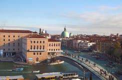 Kanał Grande i historyczny miasto Wenecja zdjęcia royalty free