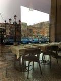 Kanał Grande restauraci odbicie Obrazy Royalty Free