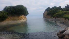 Kanał na Corfu wyspie Fotografia Royalty Free