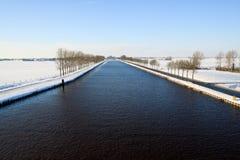 kanałowa zimna krajobrazu biel zima Obraz Stock