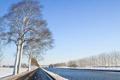 kanałowa zimna krajobrazu biel zima Zdjęcie Stock
