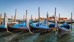 kanałowe gondole uroczysty Italy Venice Obrazy Stock