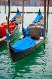 kanałowe gondole Venice zdjęcia stock