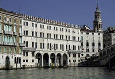 kanałowego fondaco uroczysty tedeschi Venice Zdjęcie Stock