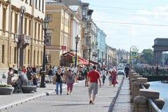 kanałowy bulwaru griboyedov Petersburg st Zdjęcia Stock