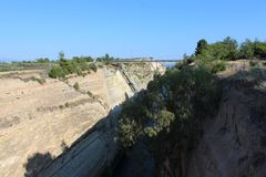 kanałowy Corinth Greece zdjęcie stock