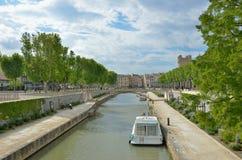 Kanałowy De Los angeles Robine w Narbonne Fotografia Stock