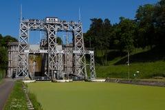 Kanałowy Du Centre, Houdeng-Aimeries - Zdjęcie Stock