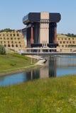 Kanałowy Du Centre, Strepy-Bracquegnies - Zdjęcia Royalty Free