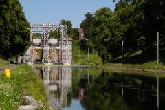 Kanałowy Du Centre, Strepy-Bracquegnies - Obrazy Stock