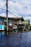 Kanałowy Mieszkaniowy Bangkok Zdjęcie Stock