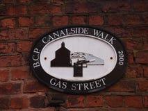 Kanałowy spacer w Birmingham, Anglia Fotografia Royalty Free