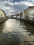 Kanał w Bruges Fotografia Stock