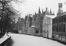 Kanał w Bruges Zdjęcie Royalty Free