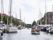 Kanał w Kopenhaga Zdjęcie Stock