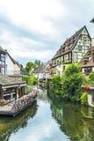 Kanał w Małym Wenecja w Colmar, Francja Zdjęcia Stock