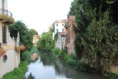 Kanał w Padova Zdjęcia Stock