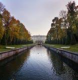 Kanał w Peterhof Zdjęcie Royalty Free