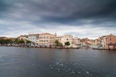 Kanał w Wenecja i domach obrazy royalty free