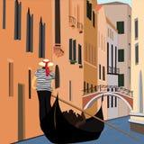 Kanał Wenecja Obrazy Royalty Free