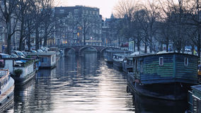 Kanały Amsterdam Fotografia Stock