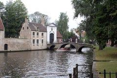 Kanały w Brugge Obrazy Royalty Free