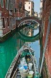 Kanały w Wenecja Fotografia Royalty Free