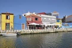 Kanaal in Aveiro Royalty-vrije Stock Fotografie