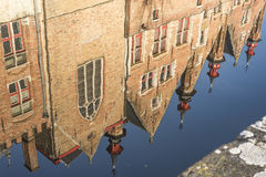 Kanaal in Brugge Stock Foto