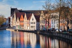 Kanaal in Brugge, België royalty-vrije stock afbeelding