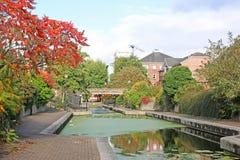 Kanaal in Cardiff stock afbeeldingen