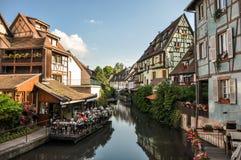 Kanaal in Colmar Stock Afbeelding