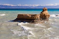Kanaal dÂ'Amour, Sidari, Korfu, Griekenland stock foto