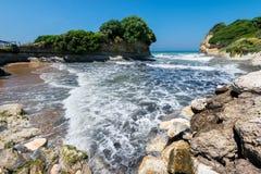 Kanaal d'amour op het eiland van Korfu stock foto's
