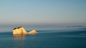 Kanaal d'amour Sidari, het Eiland van Korfu in Griekenland Kanaal van liefde royalty-vrije stock foto's